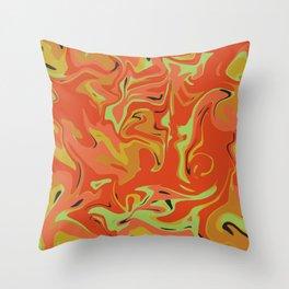Papaya Juice Throw Pillow