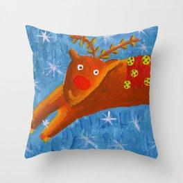Rudolph the Reindeer Throw Pillow
