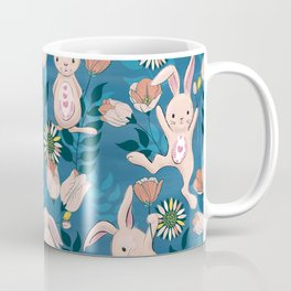 Spring Bunnies and Blooms Coffee Mug