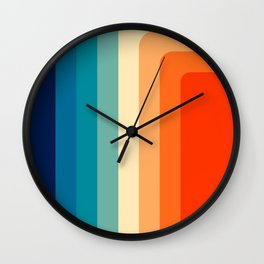 80s Vintage palette Wall Clock