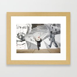 News Paper & Graffiti! Framed Art Print