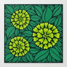 Spring Green Floral pattern Canvas Print