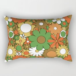Funky Daisy Floral in Harvest Rectangular Pillow
