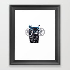My Bicycle Framed Art Print
