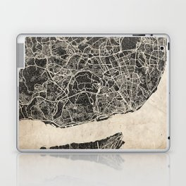 lisbon map ink lines Laptop & iPad Skin