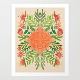 Botanical Sun Art Print