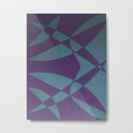 Wings and Sails - Purple and Light Blue Metal Print