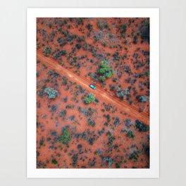 The Australian Outback Roads  Art Print