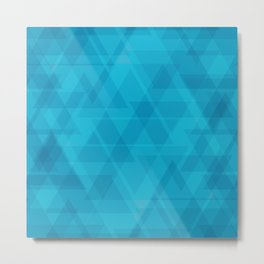 Gentle light blue triangles in the intersection and overlay. Metal Print