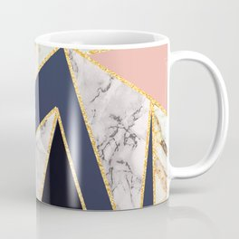 Marble Triangles P01 Coffee Mug