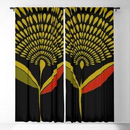 Mid Century Modern Dandelion Seed Head In Aspen Gold Blackout Curtain