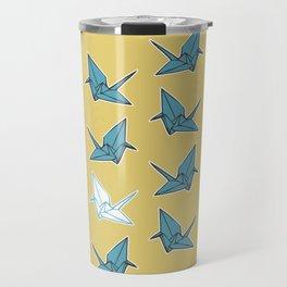 PAPER CRANES BABY BLUE AND YELLOW Travel Mug