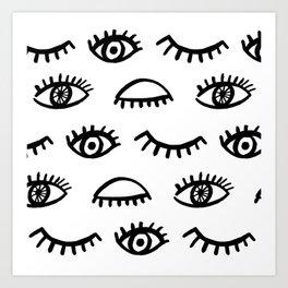 Magic Eyes Art Print