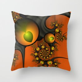 Fractal Autumn Love Throw Pillow