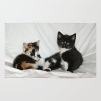 kittens Area & Throw Rugs featuring Two Kittens by Kathy Spall (kfsoriginals)