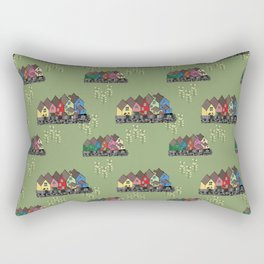 Colourful houses of Cobh Ireland Rectangular Pillow
