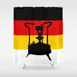 Pressure Stove with German Flag Shower Curtain
