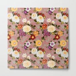 flowerily - pink Metal Print