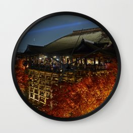 Leaves On Fire Wall Clock