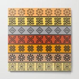 African tribal pattern Metal Print