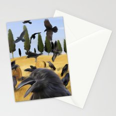Crows in Tuscany Stationery Cards