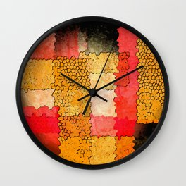 Orange Grunge Wall Clock