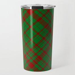 X-mas Plaid Travel Mug