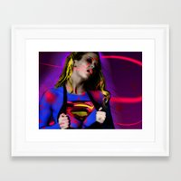 supergirl Framed Art Prints featuring Supergirl by EarlyHuman