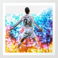 ronaldo Art Prints featuring Ronaldo by Cr7izbest