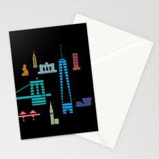 New York Skyline Black Stationery Cards