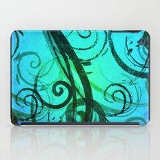 Blue Rustic Swirls iPad Case