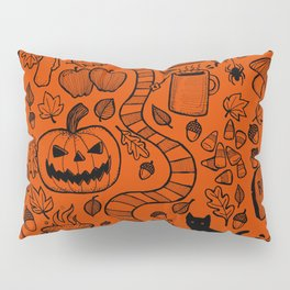 October Pattern- Black & Orange Pillow Sham