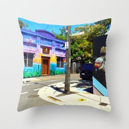 Somewhere in Newtown Throw Pillow