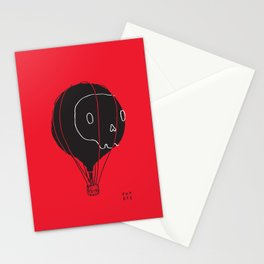 Hot Air Balloon Skull Stationery Cards