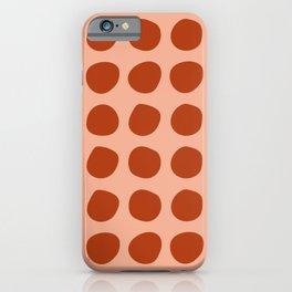 Irregular Polka Dots terracota iPhone Case