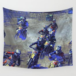 Lets Race!  - Motocross Racers Wall Tapestry