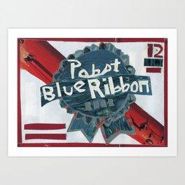 Pabst Blue Ribbon Art Print