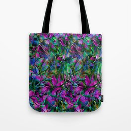 Floral Abstract Stained Glass G276 Tote Bag