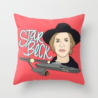 cassia beck Throw Pillows featuring Star Beck by Chelsea Herrick