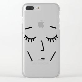 Face Sleep Clear iPhone Case
