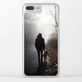 Retrograde Peace Clear iPhone Case