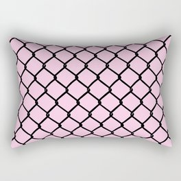 Chain Link Black on Blush Rectangular Pillow