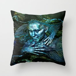 Colors swirl 'round me Throw Pillow