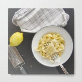 Lemon pasta Metal Print