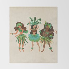 Luau Girls Throw Blanket