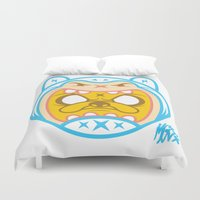 finn Duvet Covers featuring Finn & Jake by Miguel Manrique