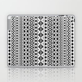 Aztec Essence Pattern Black on White Laptop & iPad Skin