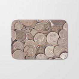 Silver Coins Collection Bath Mat