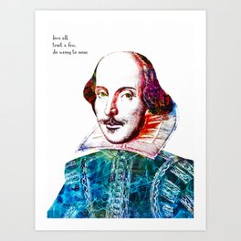 Graffitied Shakespeare Art Print