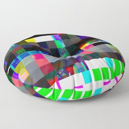 Beads Glitch Floor Pillow